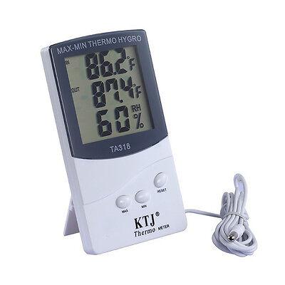 LCD Digital Thermometer Innen Außen Hygrometer Temperatur MinMax AußenfühlerH ia