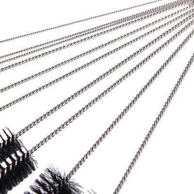 10 limpiadores acero inoxidable nylon Cepillos de limpieza aerógrafo pipa tabaco 5