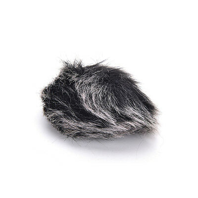 Black Fur Windscreen Windshield Wind Muff for Lapel Lavalier Microphone Mic 3C 4