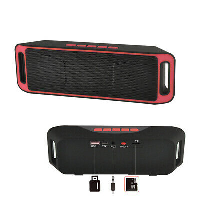 Mini Altavoz Bluetooth Inalámbrico Radio FM Reproductor de MP3 Estéreo Portátil 5