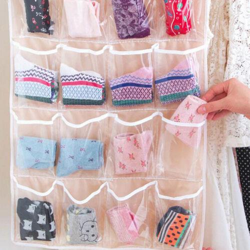 Pockets Foldable Wardrobe Hanging Bags Socks Clothing Hanger Shoes Storage Bag F 6