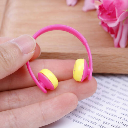 5PCS For Doll acessories plastic headphones multicolor mixed Pip CABLCA 4