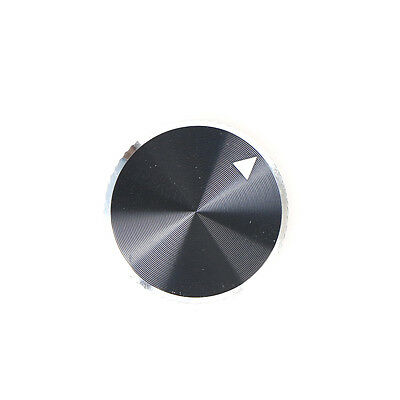 1x Dia Black Aluminum Rotary Control Potentiometer Knob 25mm x 15.5mm JH