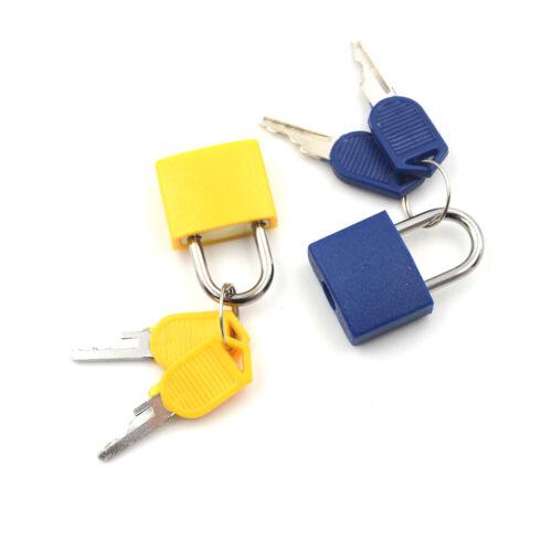 Petit cadenas en acier fort de valise de voyage serrures de dortoir avec 2clefs