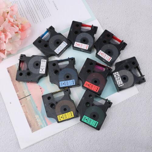 Compatible for DYMO 12mm D1 Black on Color Label Tape 1/2'' LabelManager RefilFI 3
