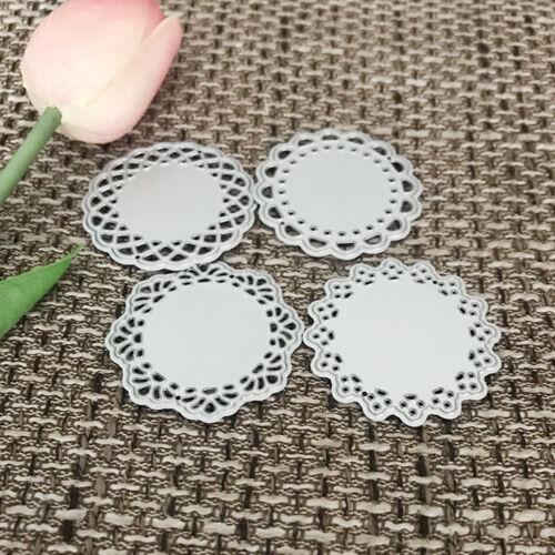 Round lace Design Metal Cutting Die For DIY Scrapbooking Album Paper Card 2