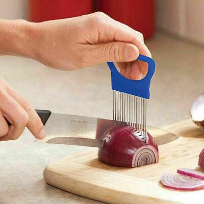 Gemüseschneider Küchenhelfer Edelstahl Einfache Zwiebelhalter Slicer Tools x Ksy