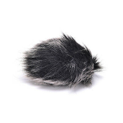 Black Fur Windscreen Windshield Wind Muff for Lapel Lavalier Microphone Mic 3C 5