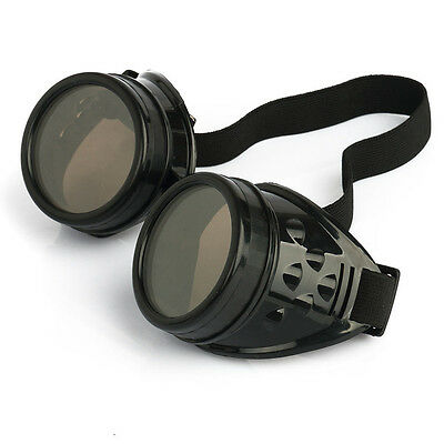 Victorian Steampunk Goggles Glasses Welding Cyber Punk Gothic Cosplay JUV
