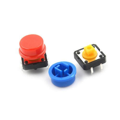 25Set Momentary Tactile Push Button Touch Micro Switch 4P PCB Cap 12x12x7.3mm TW 7
