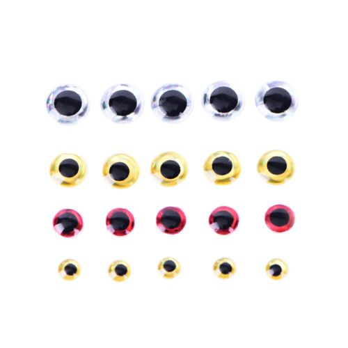 500PCS 3-6mm Chartreuse Eyes 3D Holographic Fishing Lure Eyes FlyTying Jig Cr MC 6