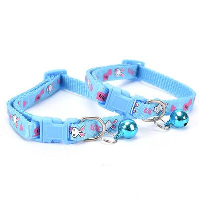 cute rabbit pattern pets cat dog puppy kitten adjustable pet collar with bell G$ 6