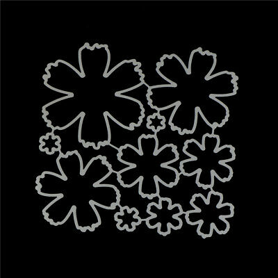 10Pcs Flower Design Metal Cutting Die For DIY Scrapbooking Album Paper Cards~GN 6