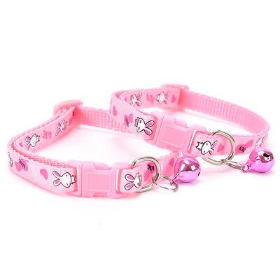 cute rabbit pattern pets cat dog puppy kitten adjustable pet collar with bell G$ 10