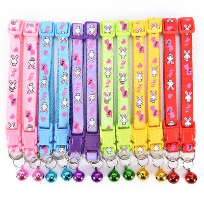 cute rabbit pattern pets cat dog puppy kitten adjustable pet collar with bell G$ 2