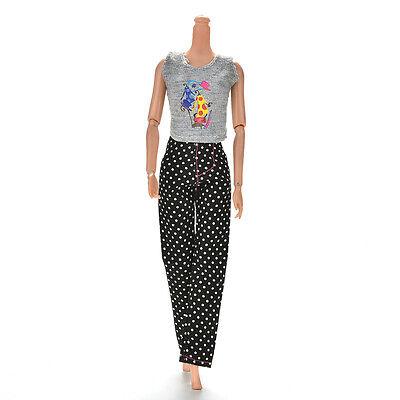 """1 Set Fashion Gray Vest Black Pants for 11"""" s Dolls ÖÖ 2"""