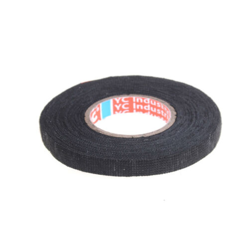 Heat-resistant 19mmx15m Adhesive Fabric Cloth Tape Car Cable Harness WiringP0HWC