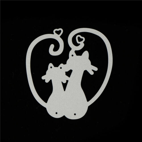 Love Cat Design Metal Cutting Dies For DIY Scrapbooking Album Paper Card Cw 8