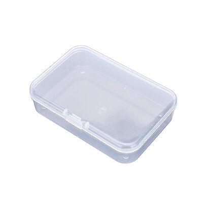 Kleine Plastik Transparent Mit Deckel Sammlung Container Aufbewahrungsbox ZP