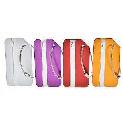 Aluminum Metal Luggage Tag Label Strong Baggage Holiday Travel Identity 2