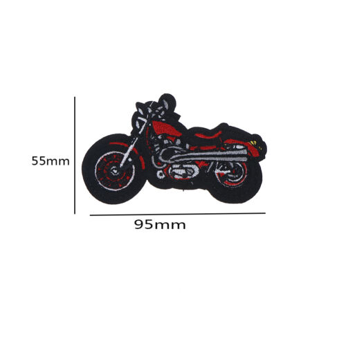 1X Cartoon Motorcycle Embroidered Iron On Patch Applique For Clothing Jacket ah 8