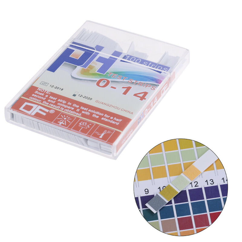 100x PH indicator test strips 0-14 test paper water litmus tester urine saliva * 3