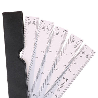 Fächerform Architekten Maßstab Lineal für GrafikDesign Multi Ratio Measure AM