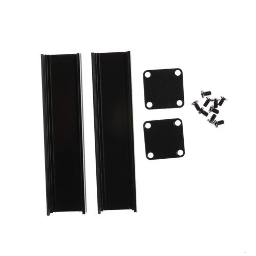 100*25*25mm Extruded PCB Aluminum Box Black Enclosure Electronic Project Cas Xj 3
