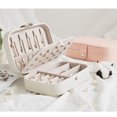 Portable Travel Jewelry Box Organizer Leather Jewellery Ornaments Case Storage A 5