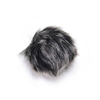 Black Fur Windscreen Windshield Wind Muff for Lapel Lavalier Microphone Mic 3C 3