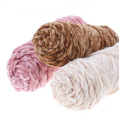 100g Velvet yarn Soft protein Cashmere silk wool Yarn crochet handmade knitti qr 12
