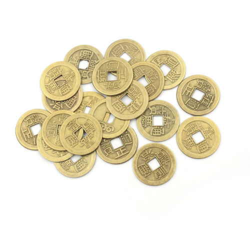 20pcs Feng Shui Coins 2.3cm Lucky Chinese Fortune Coin I Ching Money Alloy WD 3