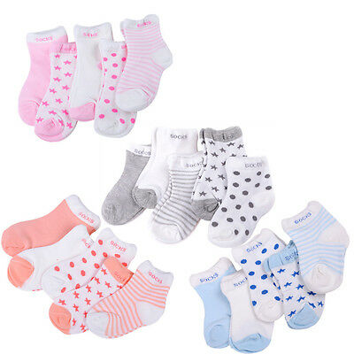 Fashion 5 Pairs Baby Boy Girl Cotton Cartoon Socks Toddler Kids Soft Sock TOs 2