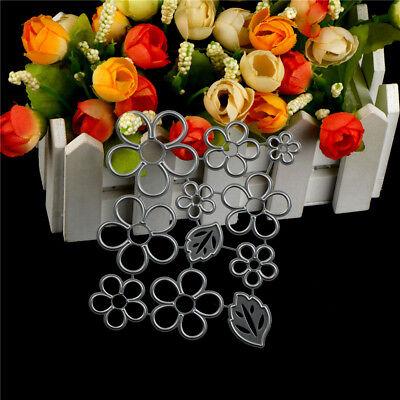 11Pcs Flower leaves Metal Cutting Die For DIY Scrapbooking Album Paper Cards P1U 2