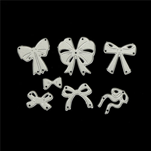 7pcs bow cutting dies stencil scrapbook album paper embossing craft DIY!# 5