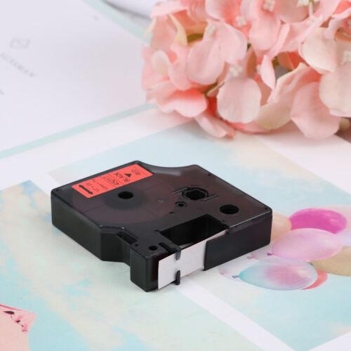Compatible for DYMO 12mm D1 Black on Color Label Tape 1/2'' LabelManager RefilFI 5