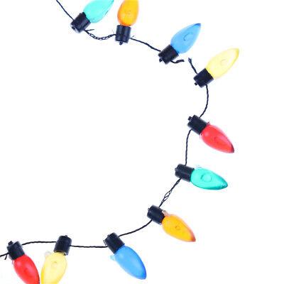 1/12 Dollhouse Miniature A String of multi-coloured plastic Christmas lights TDH 2