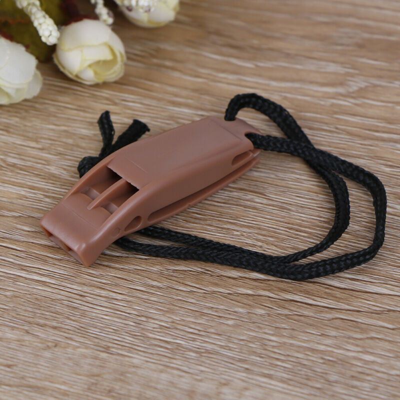 5pcs/set Dual Band Survival Whistle Lifesaving Emergency Whistle With Rope. 10