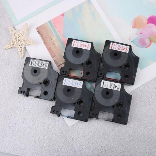 Compatible for DYMO 12mm D1 Black on Color Label Tape 1/2'' LabelManager RefilFI 6