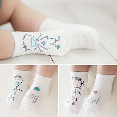 Bebé recién nacido algodón niño asimetría antideslizante calcetines de piso 2