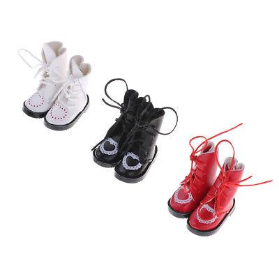 1Pair PU Leathers 1/8 Dolls Boots Shoes for BJD 1/6 Dolls Blythe Licca Jb DollsJ 4