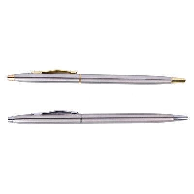 1pc Metal Ballpoint Pen Stationery Stainless Steel Rod Rotating Pen BallpenPDH 2