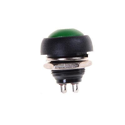 10X Bunte 12mm Wasserdicht momentary EIN / AUS Taster Mini Rundenschalter DBSD 3