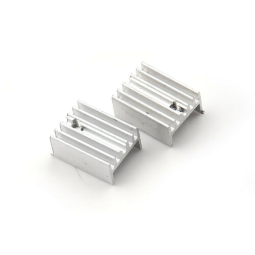 10sets TO-220 Silver Heatsink Heat Sink for Voltage Regulator or MOSFET TO220 Cooler Cooling 201510MM