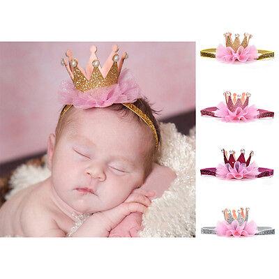 Kids Girl Baby Toddler Shiny Crown Headband Princess Hair Clip Lace Hair Band . 3