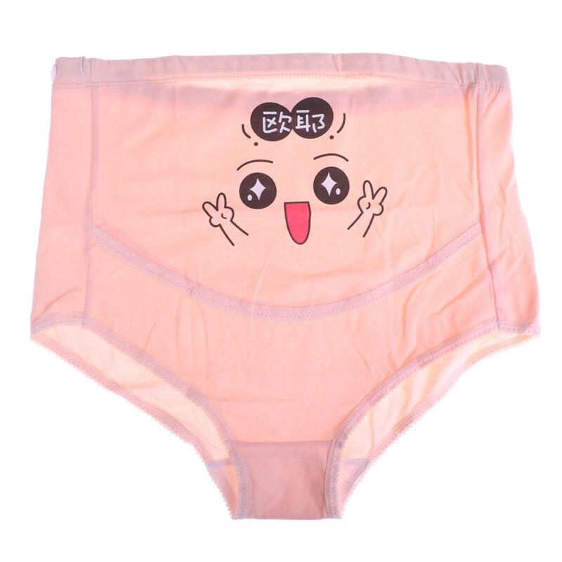 Cartoon women's cotton pregnant high waist briefs underwear maternity panties FG 8