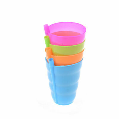 2 x Children Sip a Cup Tumblers with Built in Straw Plastic Sippy Cup/_vp