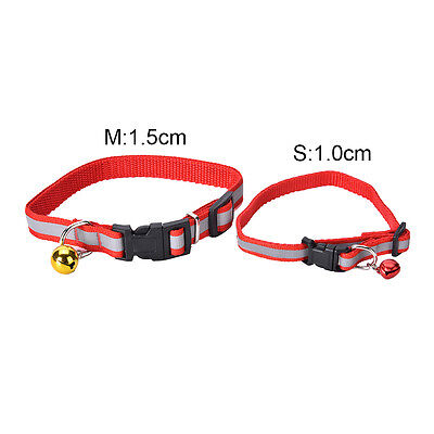 Pet Puppy Cat Kitten Soft Glossy Reflective Collar Safety Buckle with TH
