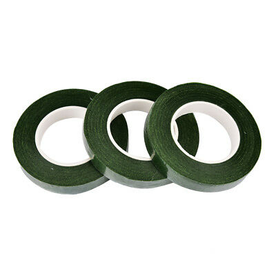Durable Rolls Waterproof Green Florist Stem Elastic Tape Floral Flower 12mm PD 6