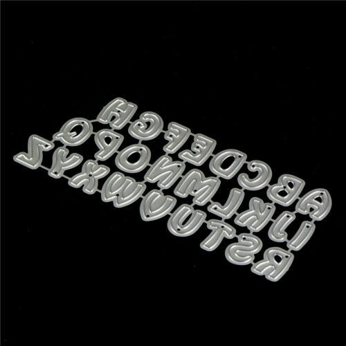 26Pcs Capital Letters Metal Cutting Dies For DIY Scrapbooking Album Paper Car KY 4